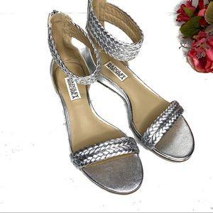 NWOT Badgley Mischka Lisette Wedge Ankle Strap 6.5